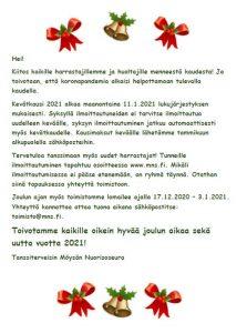 Joulu ja tulevan kauden alku
